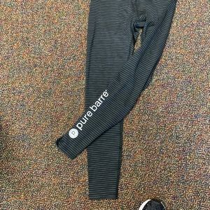 Beyond Yoga Pants - Beyond Yoga Black and Grey Pure Barre Leggings